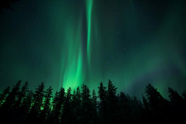 Aurore boréale, Laponie