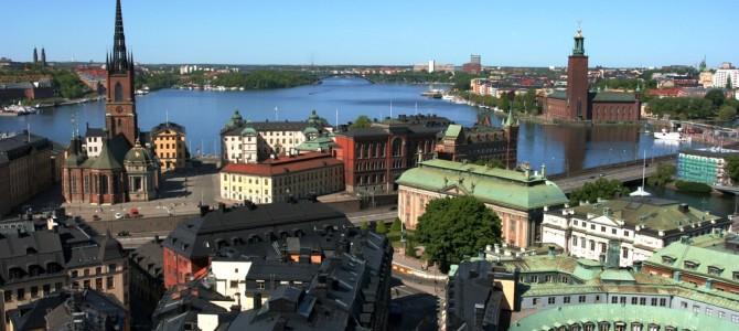Stockholm vue du ciel.
