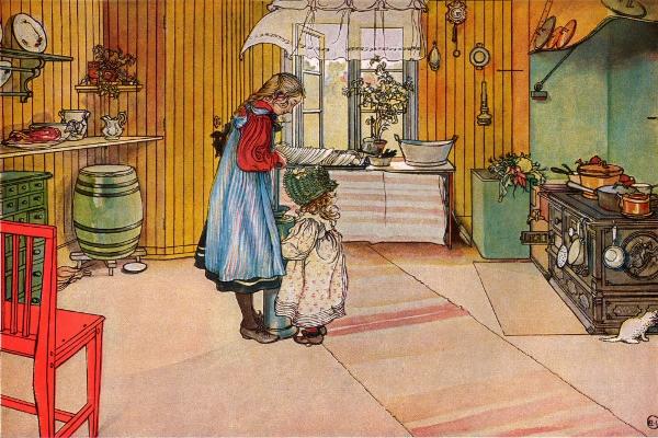 Carl Larsson, La cuisine, 1898