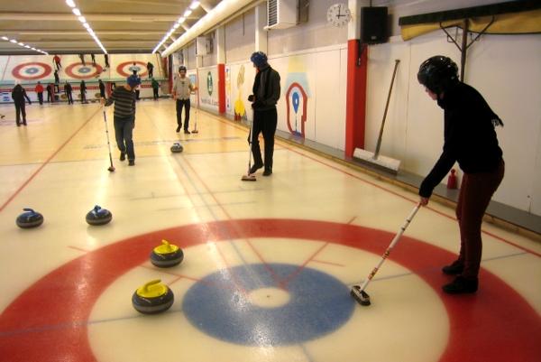 Halle de curling à Stockholm