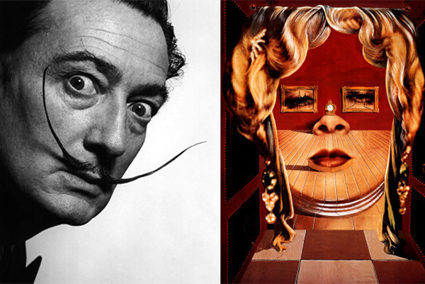 Salvador Dalí, Face of Mae West