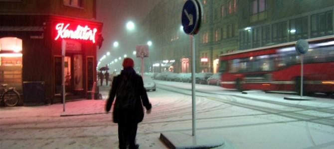 Tempête de neige sur Vasastan.
