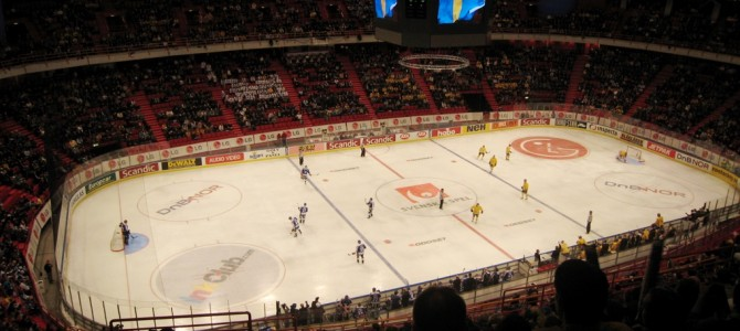 Match de hockey au Ericsson Globe.