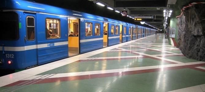 L'art dans le métro : station Kungsträdgården.