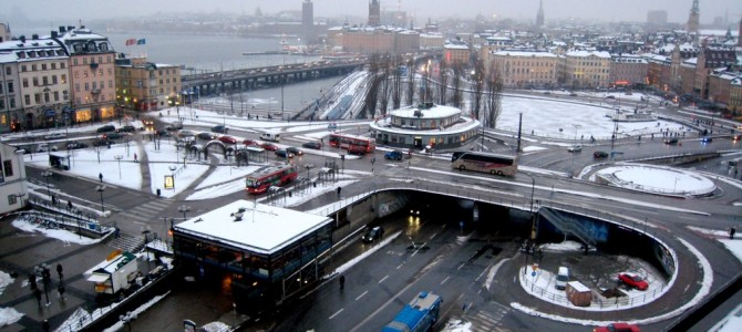 Les transports en commun à Stockholm.